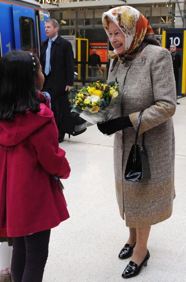 Queen Elizabeth at King's Cross Station