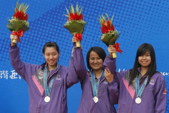 Silver medal team of Thailand Supamas Wa : News Photo CompEmbedShare Silver medal team of Thailand Supamas Wa Credit: MENAHEM KAHANA / Staff