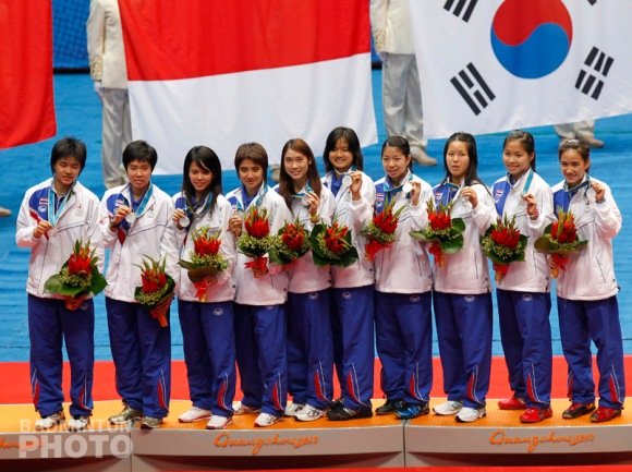 Team Thailand, Asian Games 2010 silver medallists