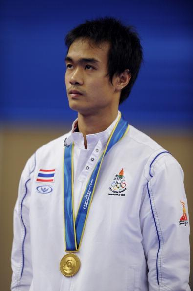 Gold medalist Chutchawal Khawlaor of Thailand