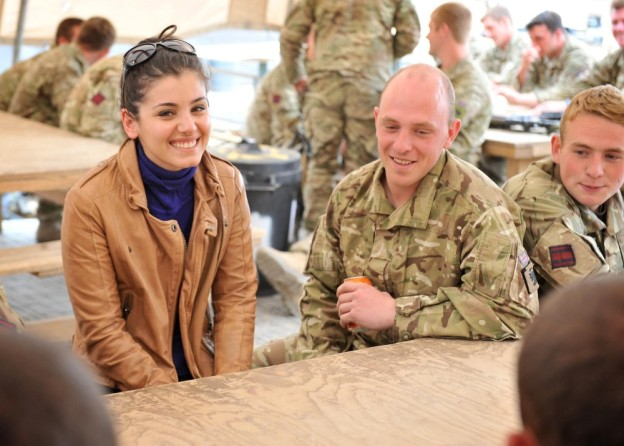 Katie Melua in Afghanistan by MOD/Cpl Mike O'Neill