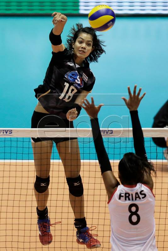 thailand and peru at the fivb volleyball womens world olympic qualification tournament in tokyo