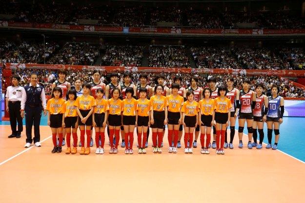 Team Japan with kids