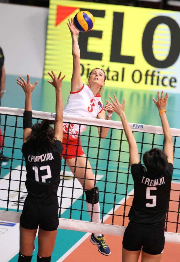 Serbia-Thailand Montreux Volley Masters 2016