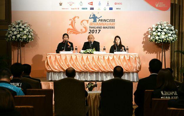 """แถลงจัดการแข่งขัน """"Princess Sirivannavari Thailand Masters 2017"""" - badmintonthai"""