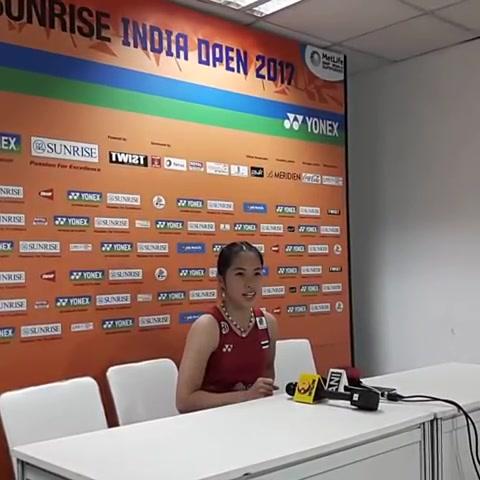 รัชนก-จาง ยิมาน Ratchanok INTANON [5] [THA] vs ZHANG Yiman [CHN] Yonex Sunrise India Open 2017