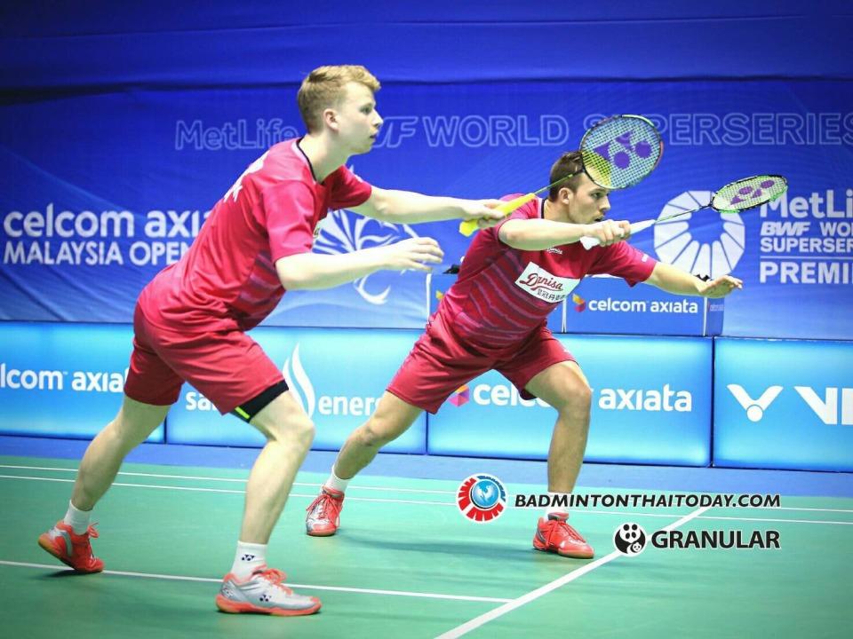 กิตตินุพงษ์-เดชาพล vs Kim ASTRUP [8]-Anders Skaarup RASMUSSEN [DEN] Celcom Axiata Malaysia Open 2017