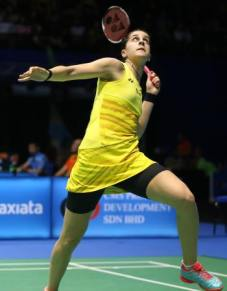 Okuhara will face Spain's Carolina Marin – 21-8 18-21 21-12 winner over defending champion Ratchanok Intanon of Thailand. . bwfbadminton - 07 APRIL, 2017 - MALAYSIA, WORLD SUPERSERIES