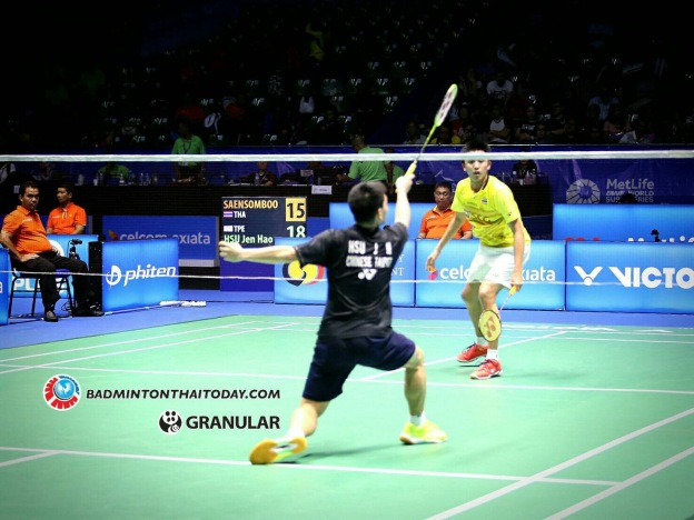 ทนงศักดิ์-ซู เจน เฮา Tanongsak SAENSOMBOONSUK [THA] vs HSU Jen Hao [TPE] Celcom Axiata Malaysia Open 2017