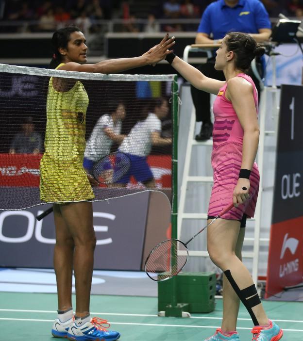 คาโรลิน่า มาริน- ปุสซาลา วี. สินธุ Carolina MARIN [4] [ESP] vs PUSARLA V. Sindhu [5][IND] OUE Singapore Open 2017