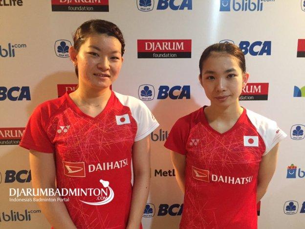 """Djarum Badminton @DjarumBadminton """"Kami akan berusaha meraih hasil yang lebih baik lagi di Australia,"""" - Misaki/Ayaka #BIO2017 #EaaForIndonesiaแปลจาก อินโดนีเชีย 11:14 - 14 มิ.ย. 2560"""