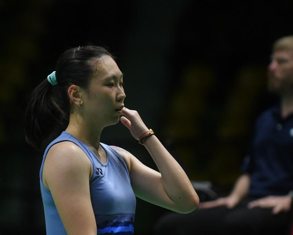 """badmintonthai - ประเภทหญิงเดี่ยว """"เมย์"""" รัชนก อินทนนท์ มืออันดับ 1 ของรายการ มืออันดับ 8 ของโลก พบกับ จาง เป่ยเหวิน[ภาพ] มืออันดับ 3 ของรายการ มืออันดับ 12 ของโลก จากมาเลเซีย"""
