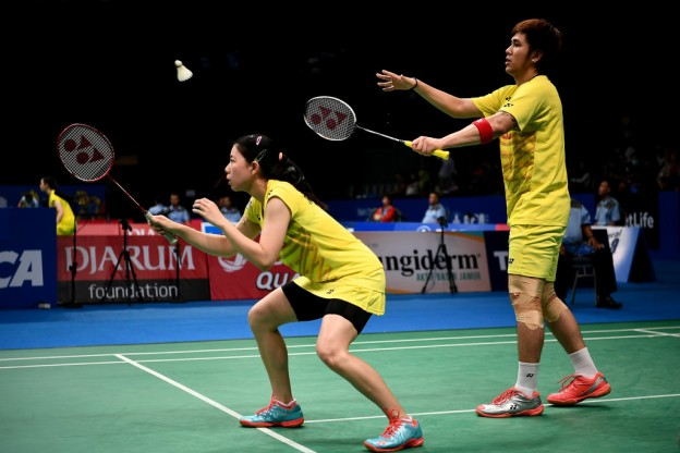 บดินทร์-สาวิตรี vs LU Kai [2]-HUANG Yaqiong [CHN] BCA Indonesia Open 2017